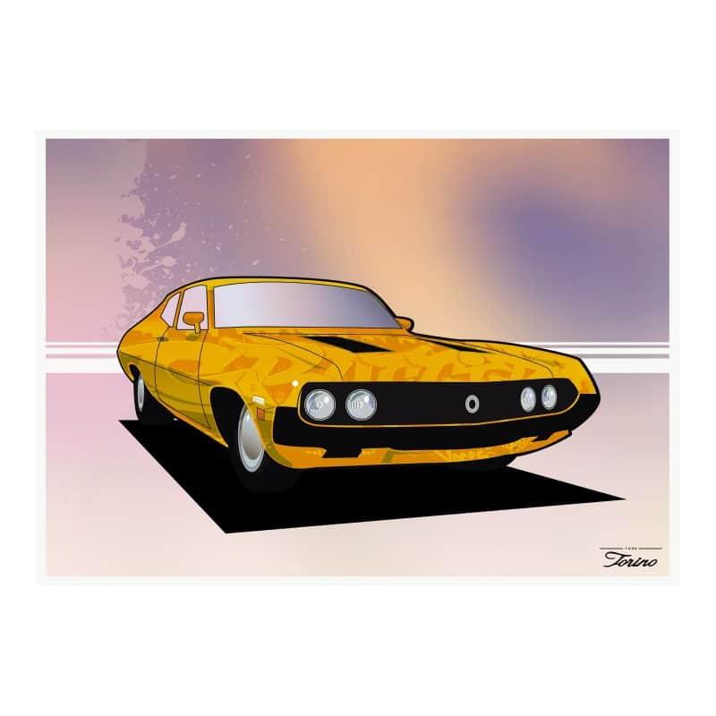 Ford Torino illustrated art print