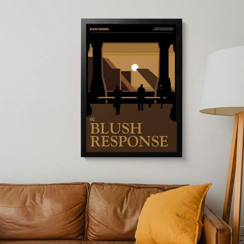 Blade Runner Poster - Blush Response framed art print
