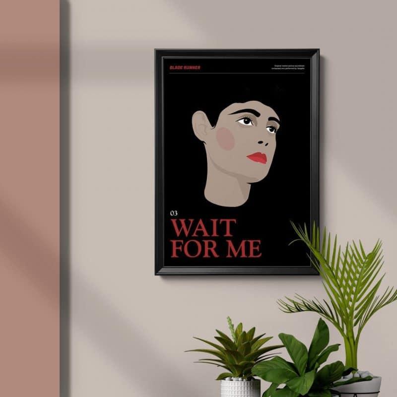 Blade Runner Poster - Wait for Me framed art poster