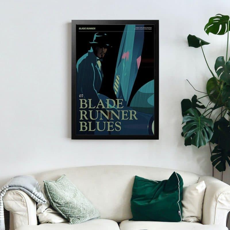Blade Runner Poster - Bladerunner Blues framed art print
